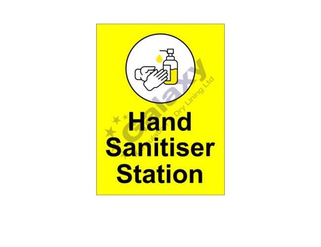 Hand Sanitiser Station Signage – 450mm x 600mm – 5mm Foamex