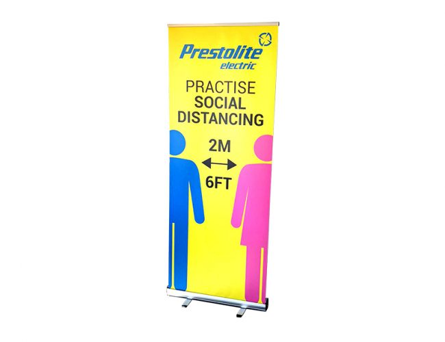 Covid-19 Social Distancing Roller Banner
